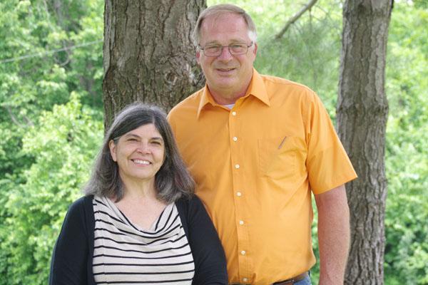 Ken, an elder, & his wife Lorna Fester